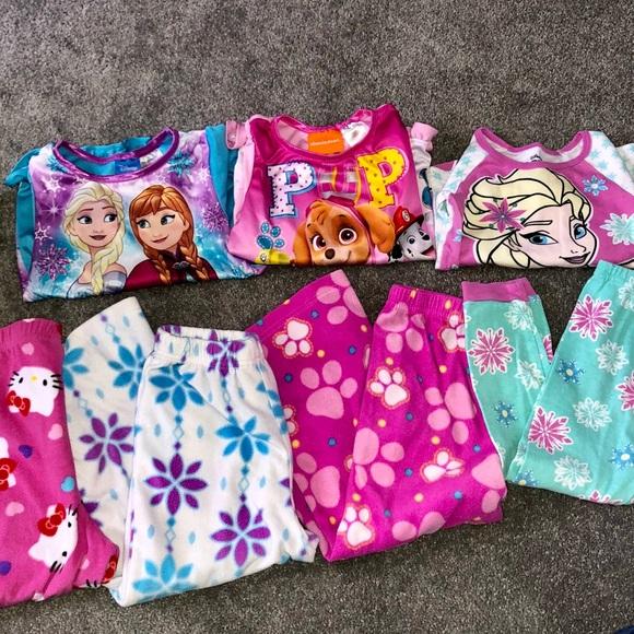 Frozen Paw Patrol Hello Kitty 4t girls pajamas Disney Minnie